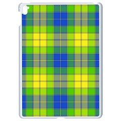 Spring Plaid Yellow Blue And Green Apple Ipad Pro 9 7   White Seamless Case
