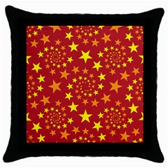 Star Stars Pattern Design Throw Pillow Case (black) by BangZart
