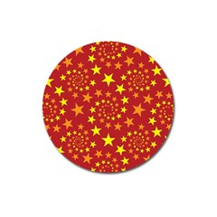 Star Stars Pattern Design Magnet 3  (round) by BangZart
