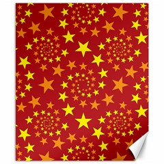 Star Stars Pattern Design Canvas 8  X 10  by BangZart