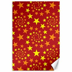 Star Stars Pattern Design Canvas 12  X 18   by BangZart