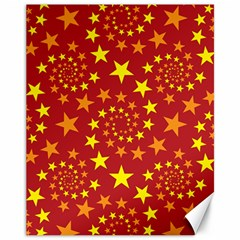 Star Stars Pattern Design Canvas 11  X 14   by BangZart
