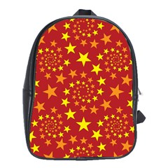 Star Stars Pattern Design School Bag (xl) by BangZart
