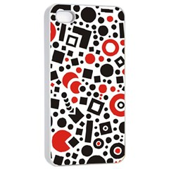 Square Objects Future Modern Apple Iphone 4/4s Seamless Case (white) by BangZart