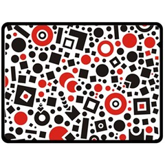 Square Objects Future Modern Double Sided Fleece Blanket (large)
