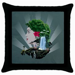 Digital Nature Beauty Throw Pillow Case (black) by BangZart
