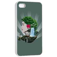 Digital Nature Beauty Apple Iphone 4/4s Seamless Case (white)