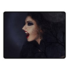 Vampire Woman Vampire Lady Double Sided Fleece Blanket (small)