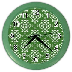 St Patrick S Day Damask Vintage Color Wall Clocks