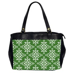 St Patrick S Day Damask Vintage Office Handbags (2 Sides)  by BangZart