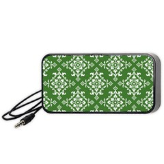 St Patrick S Day Damask Vintage Portable Speaker