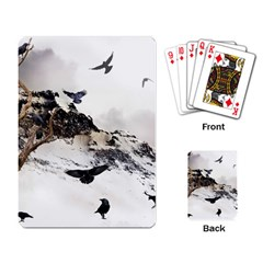 Birds Crows Black Ravens Wing Playing Card by BangZart