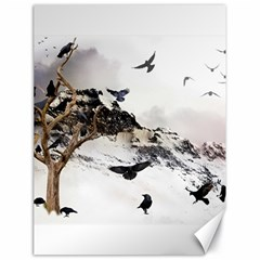 Birds Crows Black Ravens Wing Canvas 18  X 24