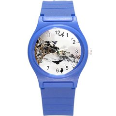 Birds Crows Black Ravens Wing Round Plastic Sport Watch (s) by BangZart
