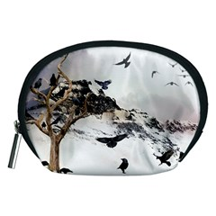 Birds Crows Black Ravens Wing Accessory Pouches (medium)