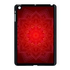 Mandala Ornament Floral Pattern Apple Ipad Mini Case (black)