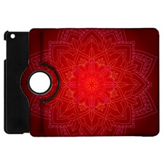 Mandala Ornament Floral Pattern Apple Ipad Mini Flip 360 Case