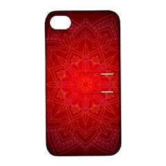 Mandala Ornament Floral Pattern Apple Iphone 4/4s Hardshell Case With Stand