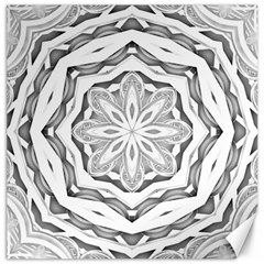 Mandala Pattern Floral Canvas 20  X 20