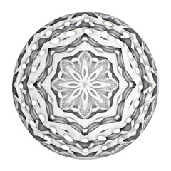 Mandala Pattern Floral Round Filigree Ornament (two Sides)