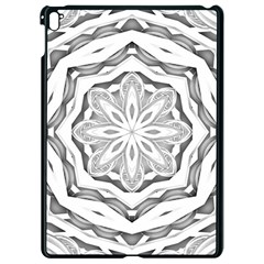 Mandala Pattern Floral Apple Ipad Pro 9 7   Black Seamless Case