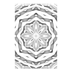 Mandala Pattern Floral Shower Curtain 48  X 72  (small)  by BangZart