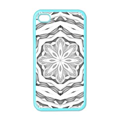 Mandala Pattern Floral Apple Iphone 4 Case (color)