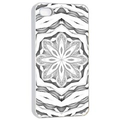 Mandala Pattern Floral Apple Iphone 4/4s Seamless Case (white)