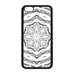Mandala Pattern Floral Apple Iphone 5c Seamless Case (black) by BangZart