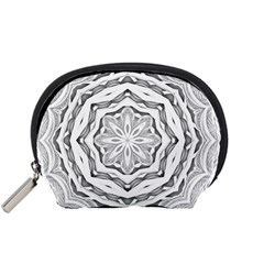 Mandala Pattern Floral Accessory Pouches (small)  by BangZart