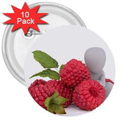 Fruit Healthy Vitamin Vegan 3  Buttons (10 pack)