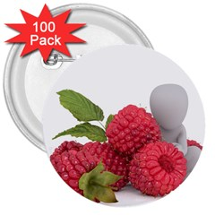 Fruit Healthy Vitamin Vegan 3  Buttons (100 pack)