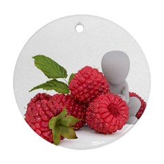 Fruit Healthy Vitamin Vegan Round Ornament (Two Sides)