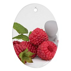 Fruit Healthy Vitamin Vegan Oval Ornament (Two Sides)