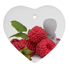 Fruit Healthy Vitamin Vegan Heart Ornament (Two Sides)