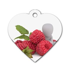 Fruit Healthy Vitamin Vegan Dog Tag Heart (One Side)