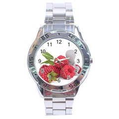 Fruit Healthy Vitamin Vegan Stainless Steel Analogue Watch