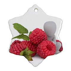 Fruit Healthy Vitamin Vegan Snowflake Ornament (Two Sides)