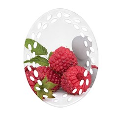 Fruit Healthy Vitamin Vegan Oval Filigree Ornament (Two Sides)
