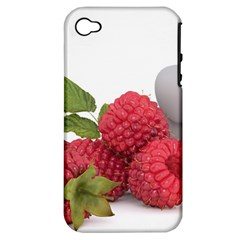 Fruit Healthy Vitamin Vegan Apple iPhone 4/4S Hardshell Case (PC+Silicone)