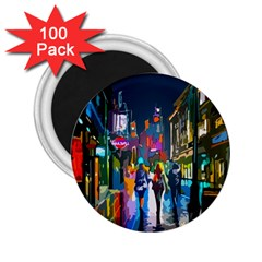 Abstract Vibrant Colour Cityscape 2 25  Magnets (100 Pack)