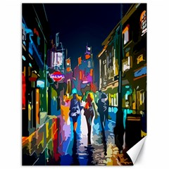 Abstract Vibrant Colour Cityscape Canvas 18  X 24   by BangZart