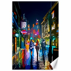 Abstract Vibrant Colour Cityscape Canvas 20  X 30   by BangZart