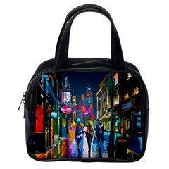 Abstract Vibrant Colour Cityscape Classic Handbags (one Side)