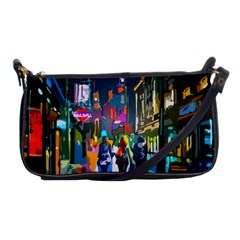 Abstract Vibrant Colour Cityscape Shoulder Clutch Bags by BangZart