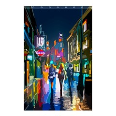 Abstract Vibrant Colour Cityscape Shower Curtain 48  X 72  (small)