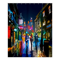 Abstract Vibrant Colour Cityscape Shower Curtain 60  X 72  (medium)  by BangZart