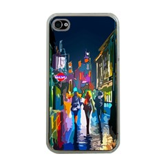 Abstract Vibrant Colour Cityscape Apple Iphone 4 Case (clear) by BangZart