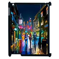 Abstract Vibrant Colour Cityscape Apple Ipad 2 Case (black) by BangZart