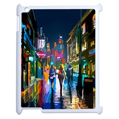 Abstract Vibrant Colour Cityscape Apple Ipad 2 Case (white) by BangZart